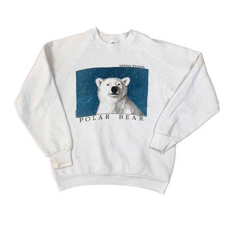 Vintage Shirts   991 Vintage Polar Bear Wildlife Crewneck Sweater   Poshmark