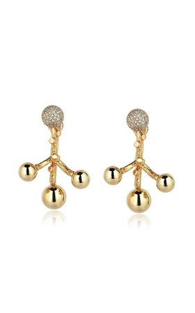 Small Constellation 18k Yellow Gold Diamond Earrings By Evren Kayar | Moda Operandi