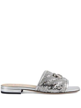 Gucci sequin slide sandals - FARFETCH