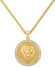 """Macy's Men's Coin 24"""" Pendant Necklace in 18k Gold-Plated Sterling Silver & Reviews - Necklaces - Jewelry & Watches - Macy's"""