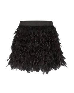 Alice + Olivia Cina Feather-Embellished Tulle Mini-Skirt