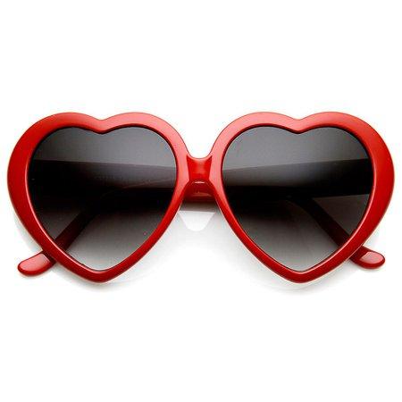 Grote Oversized Womens Heart Shaped zonnebril schattig Love Fashion brillen | Fruugo