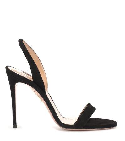 so nude 105 black suede sandals