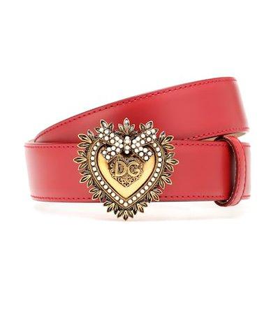 Devotion leather belt