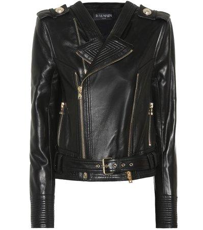 Leather Biker Jacket | Balmain - Mytheresa