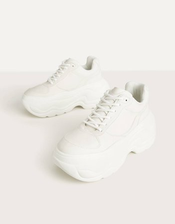 UV Reactive platform sneakers - New - Bershka United States