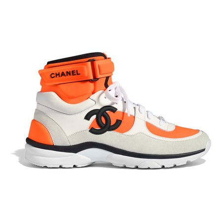chanel orange sneaker
