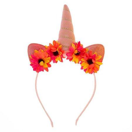 Unicorn Daisy Sunflower Cat Ears Headband