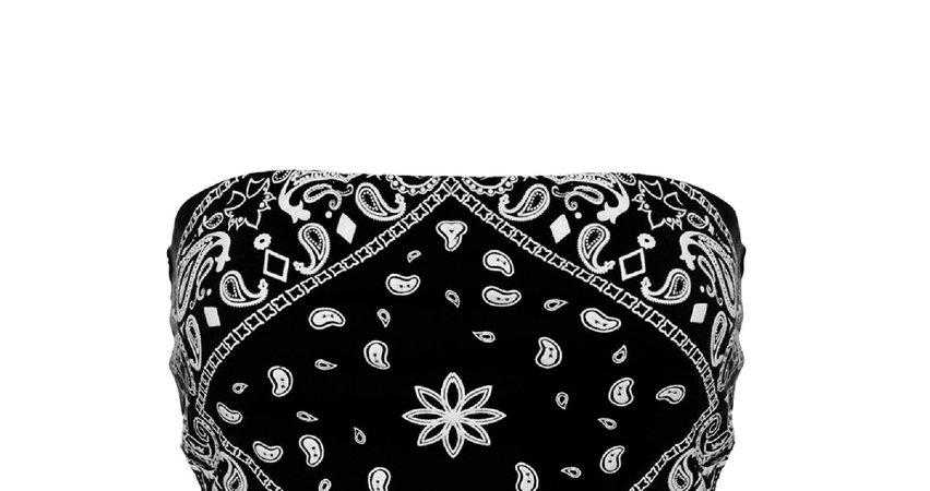 black bandana tube top