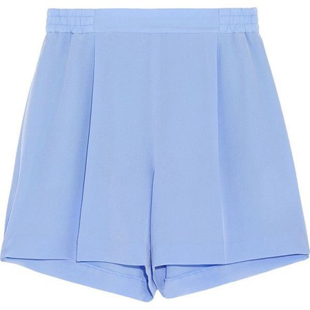 Stella McCartney Zanda silk crepe de chine shorts (4.677.835 IDR)