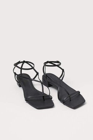 Strappy Sandals - Black