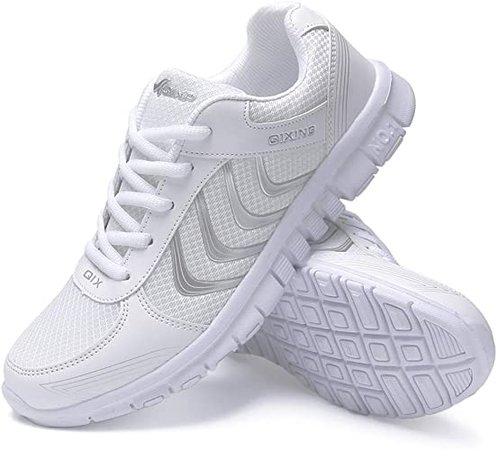 Amazon.com | DUOYANGJIASHA Women's Athletic Road Running Mesh Breathable Casual Sneakers Lace Up Comfort Sports Student Fashion Tennis Shoes Dark Gray | Track & Field & Cross Country