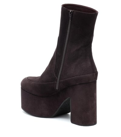 Suede Ankle Boots | Dries Van Noten - Mytheresa