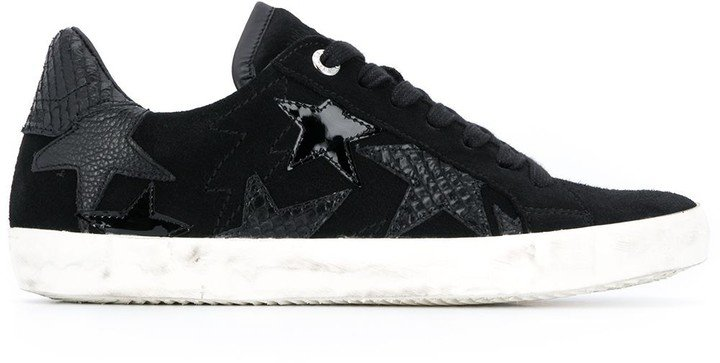 Star-Embellished Low-Top Sneakers
