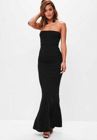 Black Crepe Sleeveless Maxi Dress | Missguided