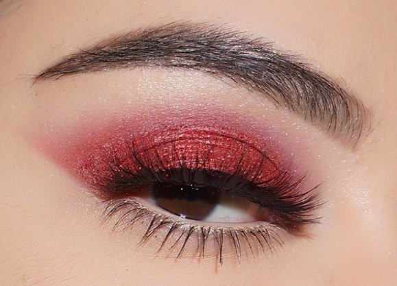 Edgy Red Eye Makeup