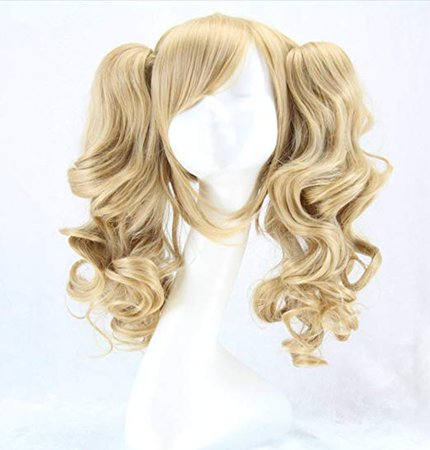 Amazon.com: Alibuy Light Blonde Cosplay Wigs with Pigtails 17.7 Inch, Thick and Soft for Costume Party Hallowee: Beauty