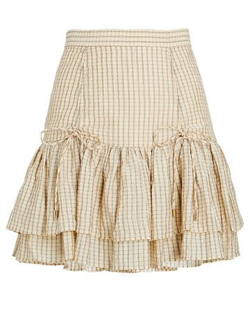 Significant Other Florence Ruffled Plaid Mini Skirt | INTERMIX®