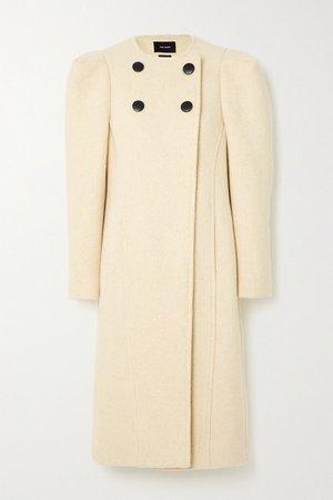 Fezio Double-breasted Wool-blend Coat - Ecru