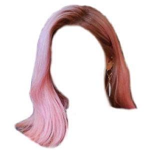 short pink hair png
