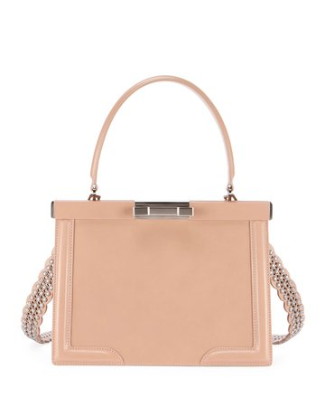 ALAIA Cecile Small Framed Top Handle Bag | Neiman Marcus
