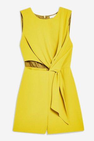 Twist Drape Romper | Topshop yellow