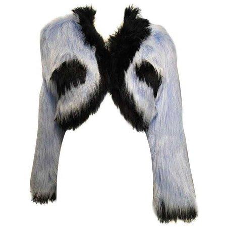Chanel Baby Blue Fantasy Fur Cropped Jacket ($1650)