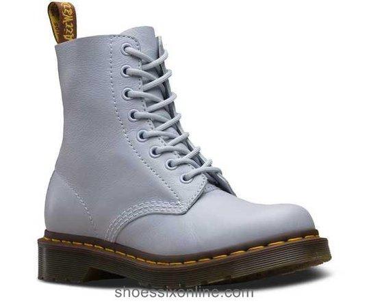 Hot Sale Women's Boots - Dr Martens 1460 Pascal Virginia - Blue Moon