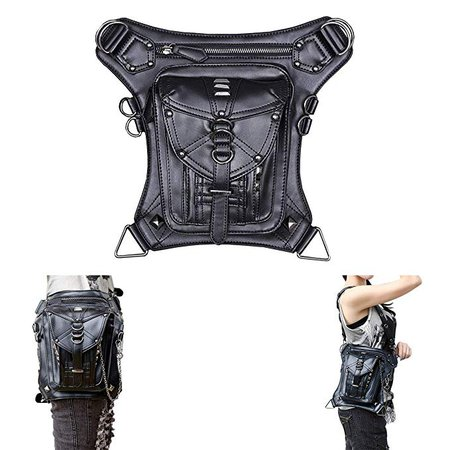 Retro Bag Steam Punk Retro Rock Gothic Goth Shoulder Waist Bags Packs Victorian Style for Women Men + Leg Thigh Holster Bag: Amazon.fr: Cuisine & Maison