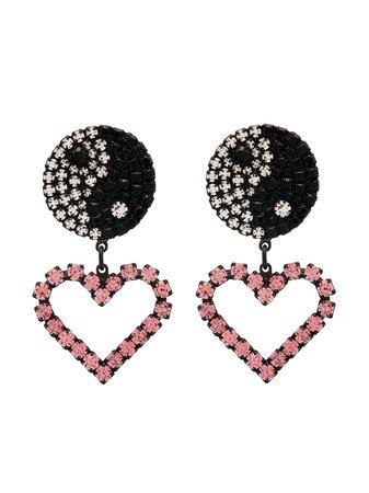 Ashley Williams crystal-embellished drop earrings - FARFETCH