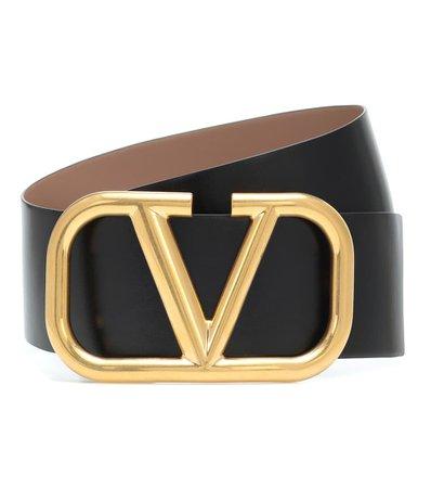 Valentino - Valentino Garavani VLOGO reversible leather belt | Mytheresa