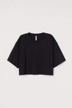Cropped T-shirt - Black
