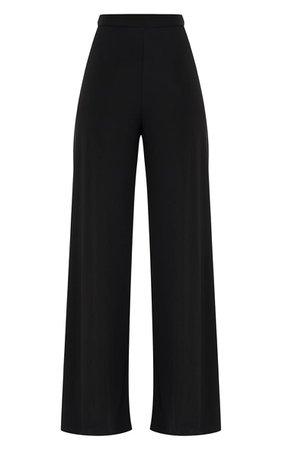 Jill Black Slinky Palazzo Trousers | Knitwear | PrettyLittleThing