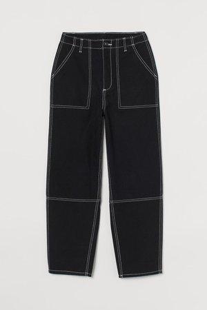 Cotton utility trousers - Black - Ladies | H&M