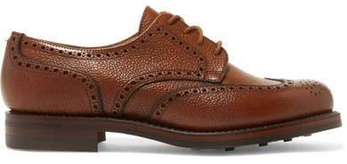 James Purdey & Sons - Textured-leather Brogues - Tan