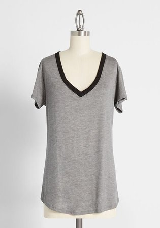 Ease With Intention V-Neck Tee Black | ModCloth