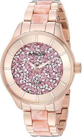 Invicta Women's Angel Quartz Watch with Stainless-Steel Strap, Two Tone, 18 (Model: 24663): Watches