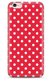 red polka dot phone case