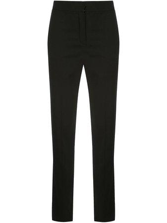 Oscar De La Renta high-rise slim-fit Trousers - Farfetch