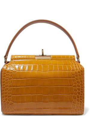 Gu_de | Tully croc-effect leather tote | NET-A-PORTER.COM