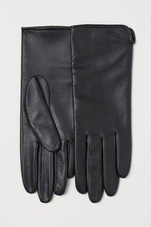 Leather gloves - Black - Ladies | H&M