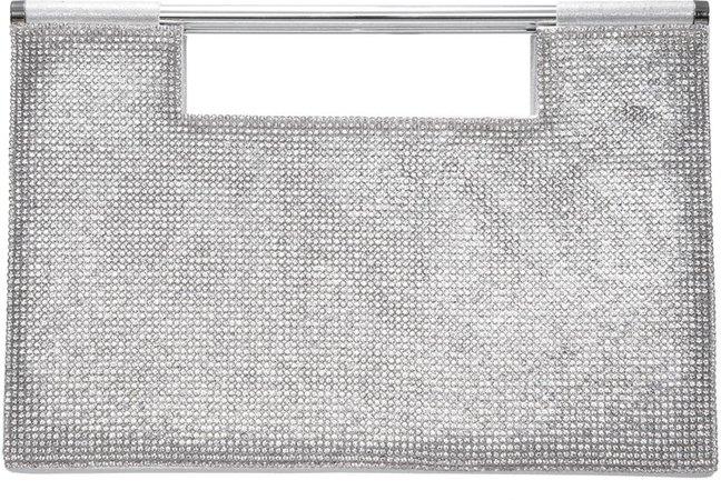 Crystal Embellished Top Handle Bag