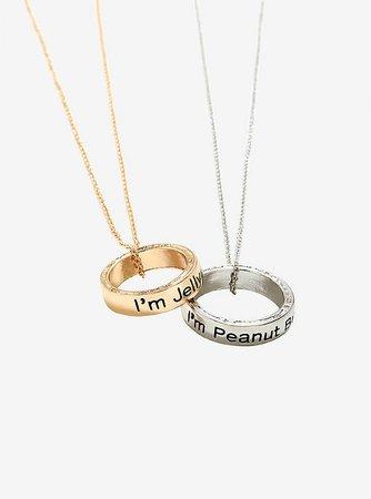 Blackheart Peanut Butter & Jelly Ring Necklace Box Set