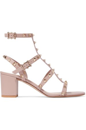 Valentino | Valentino Garavani The Rockstud 55 leather sandals | NET-A-PORTER.COM