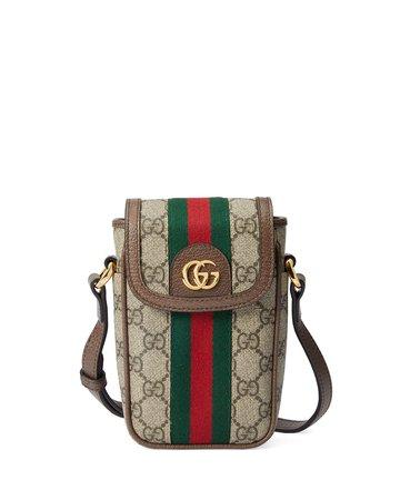 Gucci Ophidia GG Supreme Phone Case Crossbody Bag | Neiman Marcus