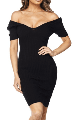 Off The Shoulder Bodycon Dress – shoptherule