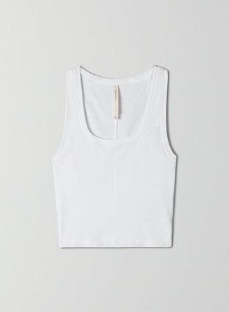 The Group by Babaton FOUNDATION RIB SCOOP TANK | Aritzia US