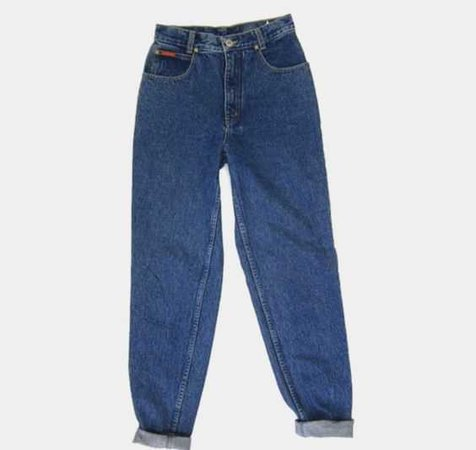 Rolled Up High Waisted Jeans