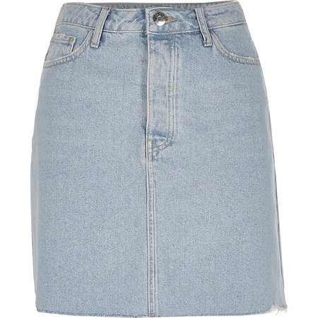 Light blue denim mini skirt | River Island