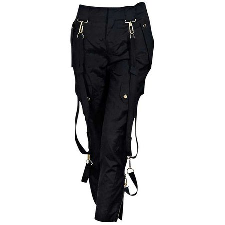 Black Gucci Cropped Harem Pants For Sale at 1stdibs